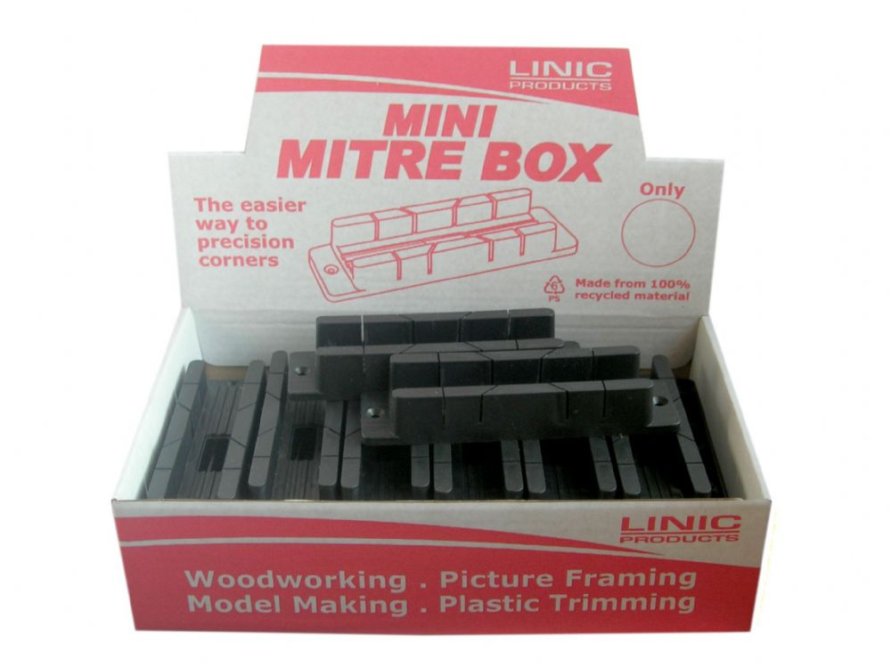 linic uk made 20 x mini mitre box in display box mb0510. Black Bedroom Furniture Sets. Home Design Ideas